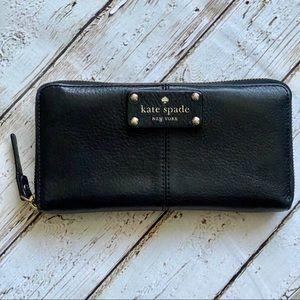 Kate Spade New York Large Black Zip Around Wallet